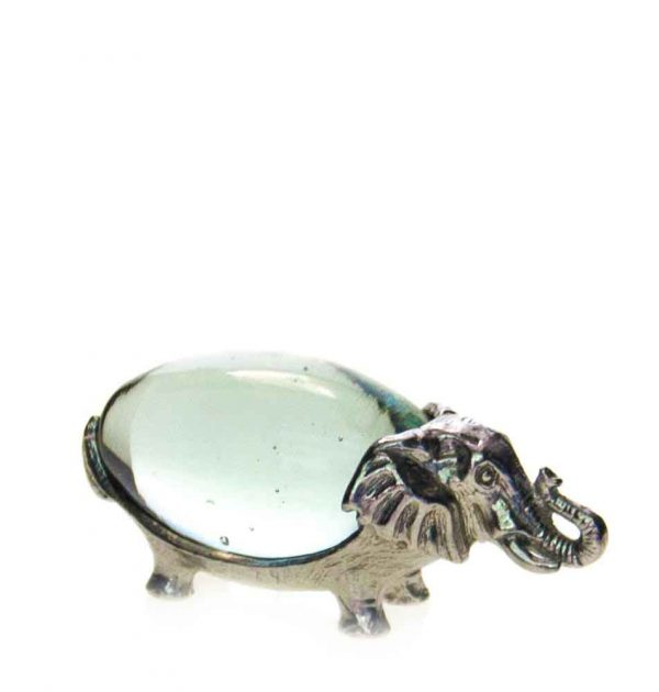 Small Oval Elephant Pewter Body