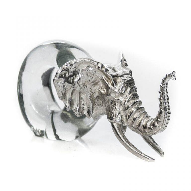 Mini Ele Napkin Ring Pewter