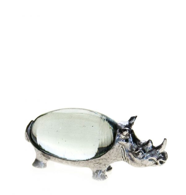 Small oval Rhino pewter body