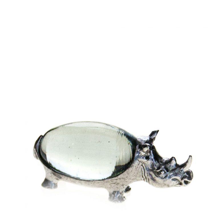 Small oval Rhino pewter body