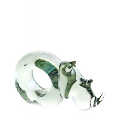 Mini Rhino Glass Napkin ring