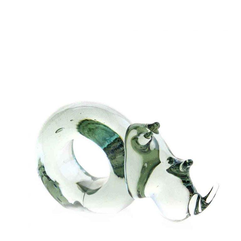 Mini Rhino Glass Napkin ring