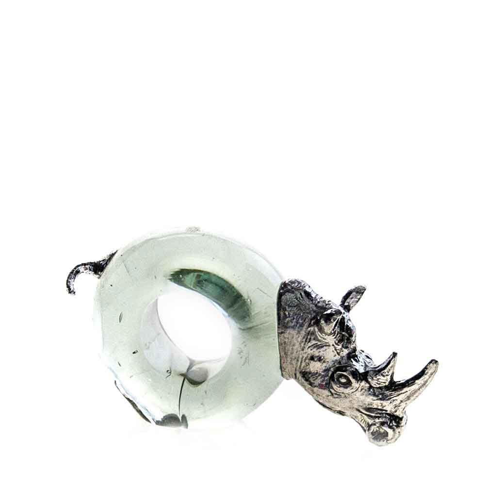 Mini Rhino Napkin ring Pewter
