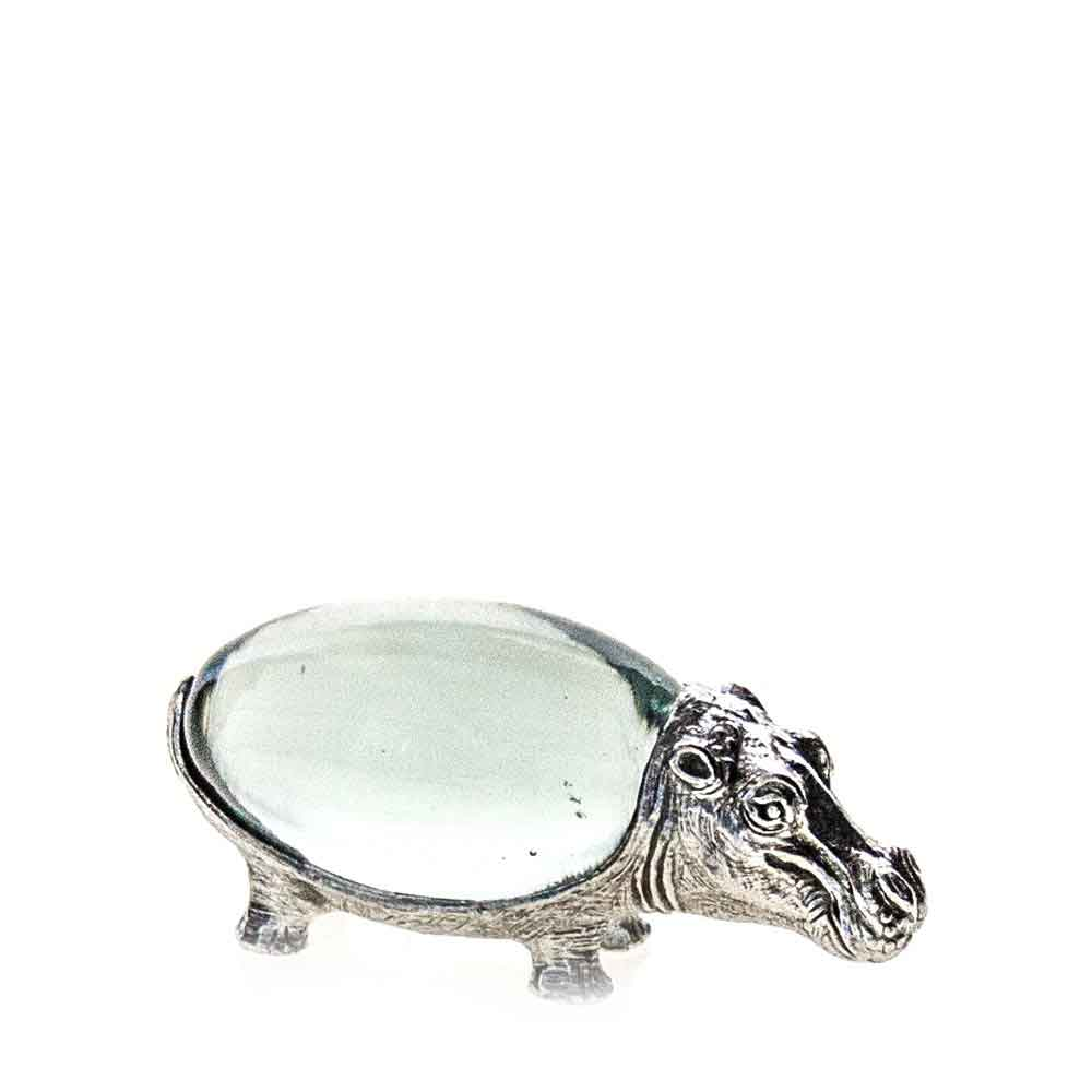 Small Oval Hippo Pewter Body