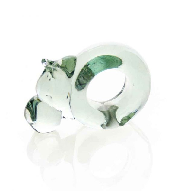 Mini Hippo Glass Napkin ring