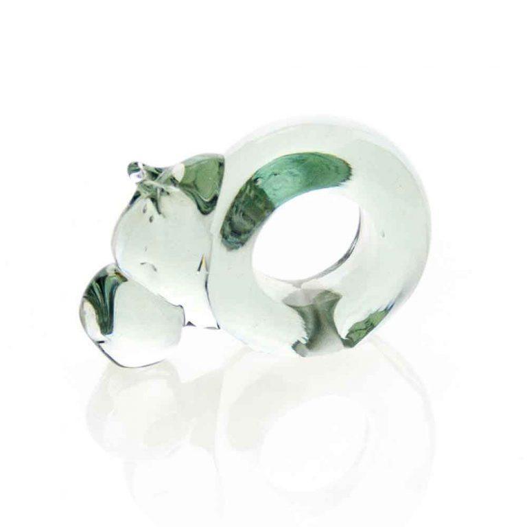 Mini Hippo Glass Napkin ring
