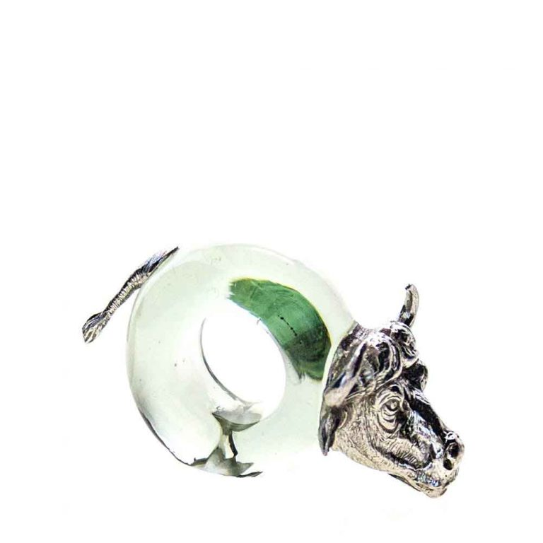 Mini Buffalo Napkin ring Pewter