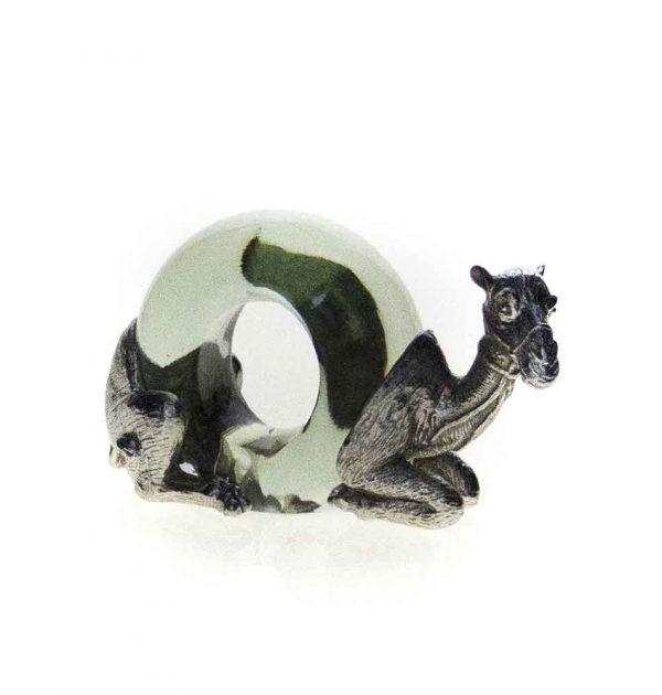 Mini Pewter Camel Napkin Ring