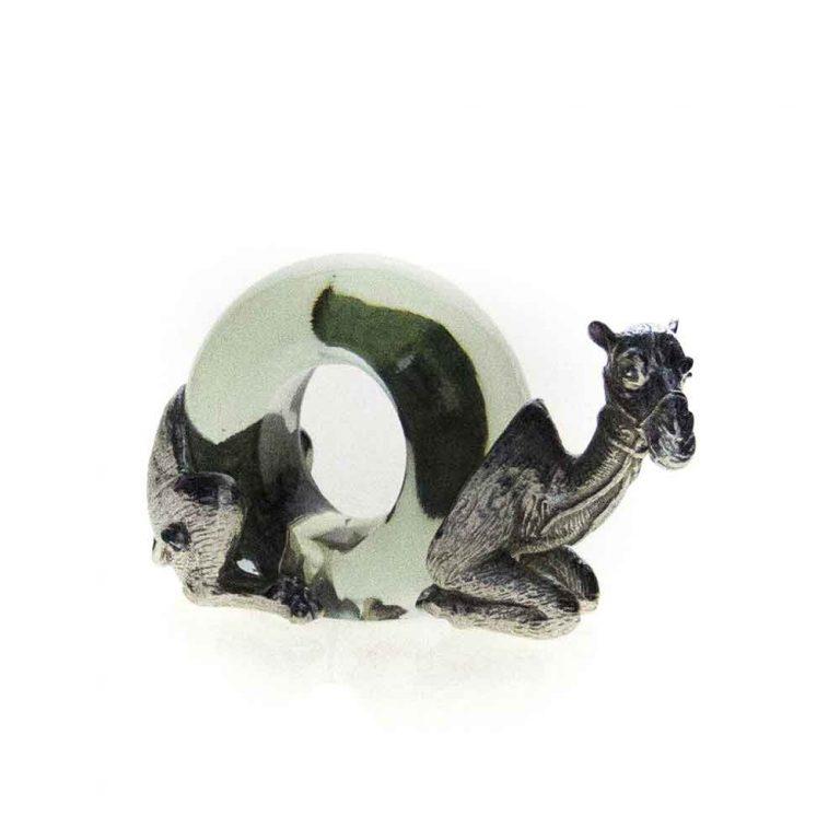 Mini Pewter Camel Napkin Ring