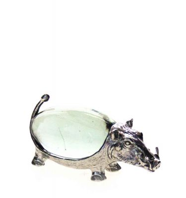 Small Oval Warthog Pewter body