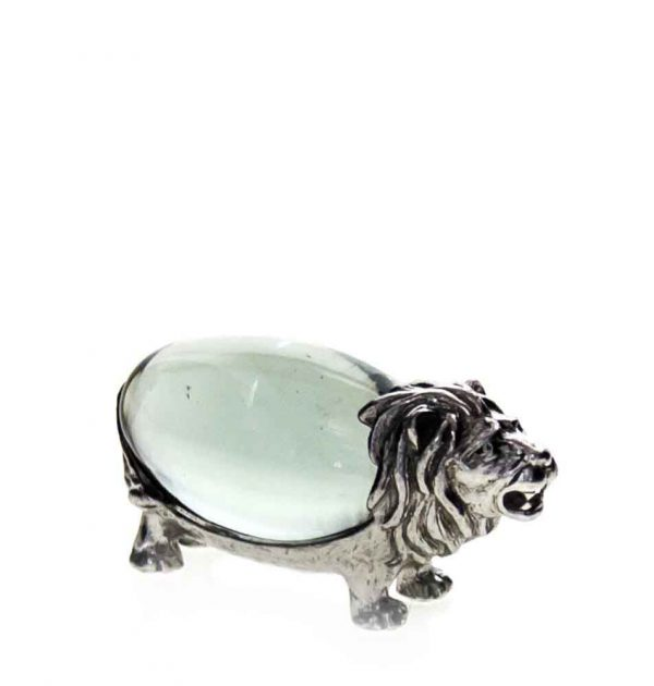 Small Oval Lion Pewter body