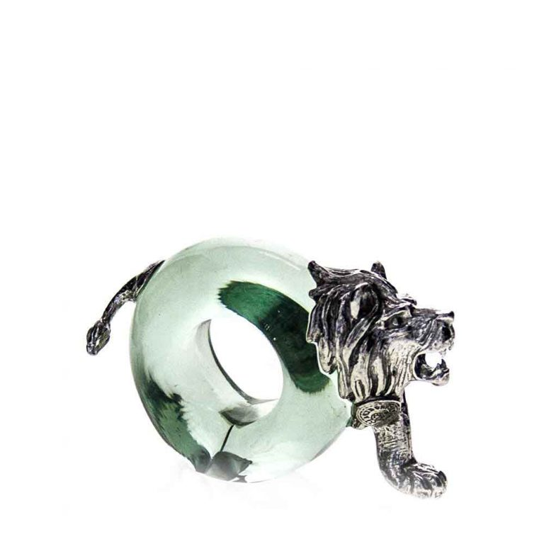 Mini Pewter Lion Napkin Ring