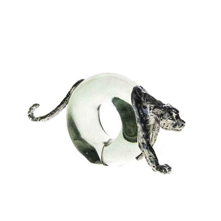 Mini Cheetah Napkin ring Pewter