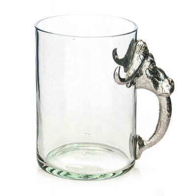 Large Beermug Buffalo Pewter Handle