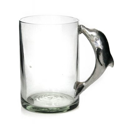 Large Beermug with dolphin handle