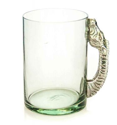 Large Beermug Zebra Pewter Handle