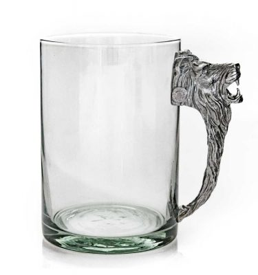 Large Beermug Lion Pewter Handle