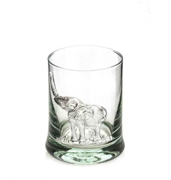 Whiskey Tumbler - Pewter Elephant