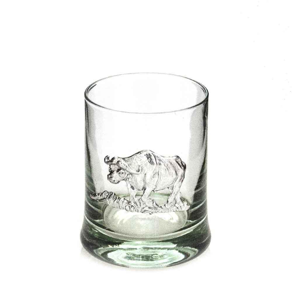 Whiskey Tumbler Pewter Buffalo