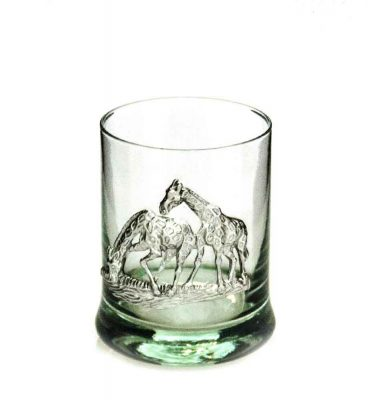 Whiskey Tumbler Pewter Giraffe