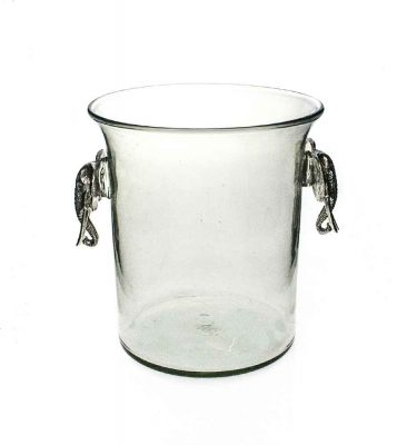 Ice Bucket Elephant Pewter Handle