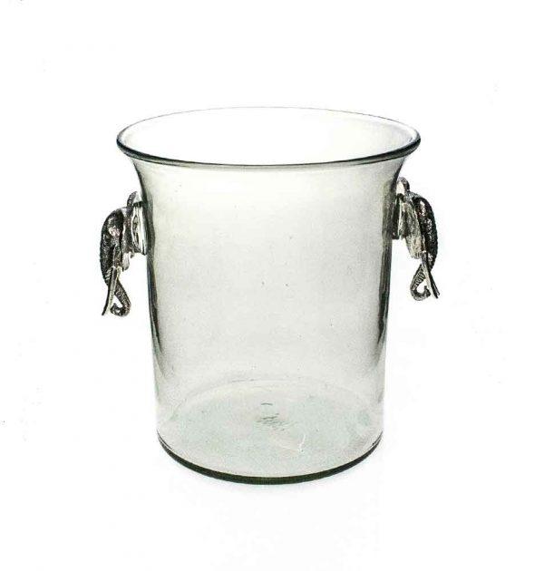 Ice Bucket Elephant Pewter Handle