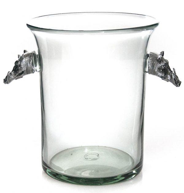 Ice Bucket Warthog Pewter Handle