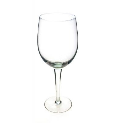 Oversized white wine glass