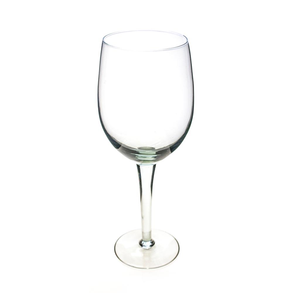 Oversized white wine glass