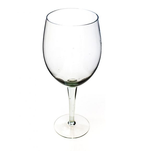 Oversize red wine glass