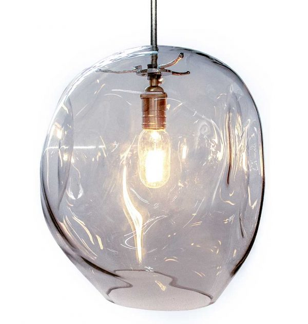 Large organic glass light - Light fitting not included