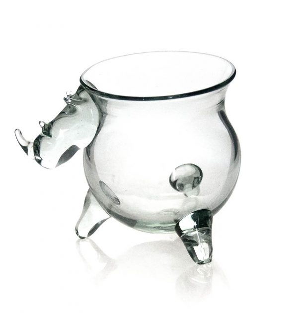 Med Potjie Pot with Rhino Head