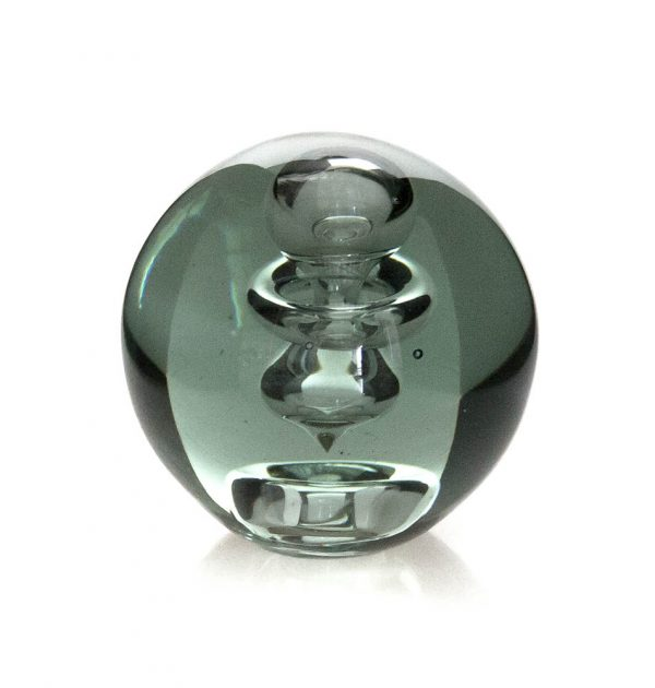 Silver Spiral Paperweight Clear (round)